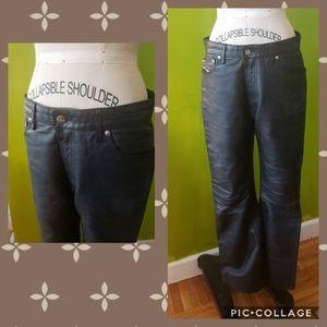 Vintage Diesel Leather Bootcut Jeans